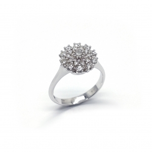 Anello con Diamanti Fiore CT 0.71