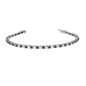 Bracciale Semirigido con 35 Diamanti Neri CT 1.64