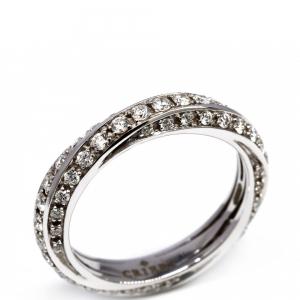Anello Crieri con Diamanti Linea Futura in oro Bianco