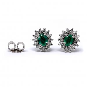 Orecchini con Smeraldi e Diamanti Linea Anita