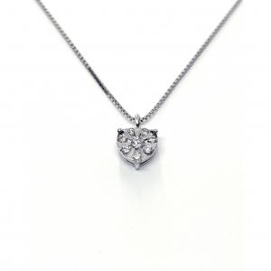Pendente cuore con Diamanti CT 0.13