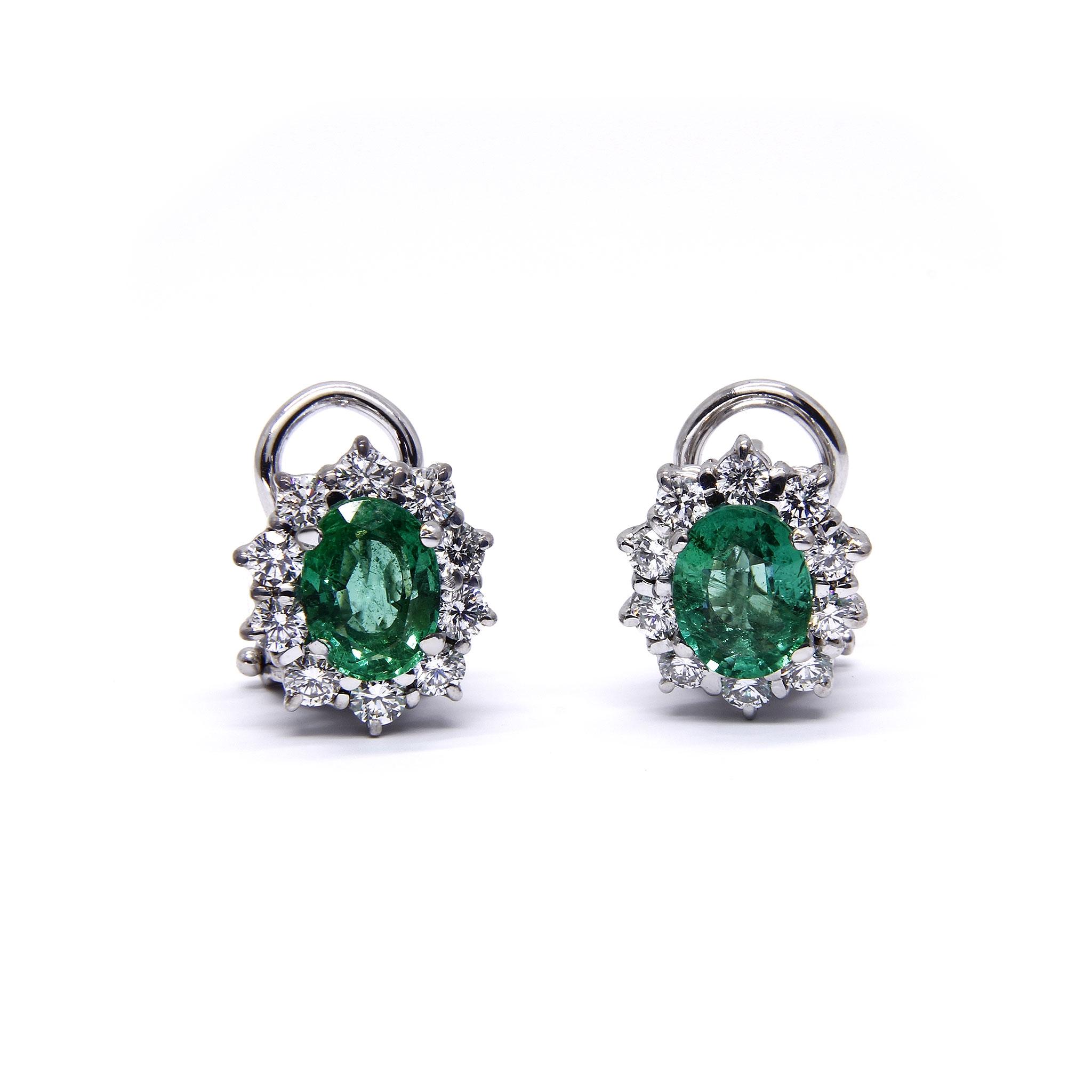 Orecchini con Smeraldo e Diamanti Linea Katia