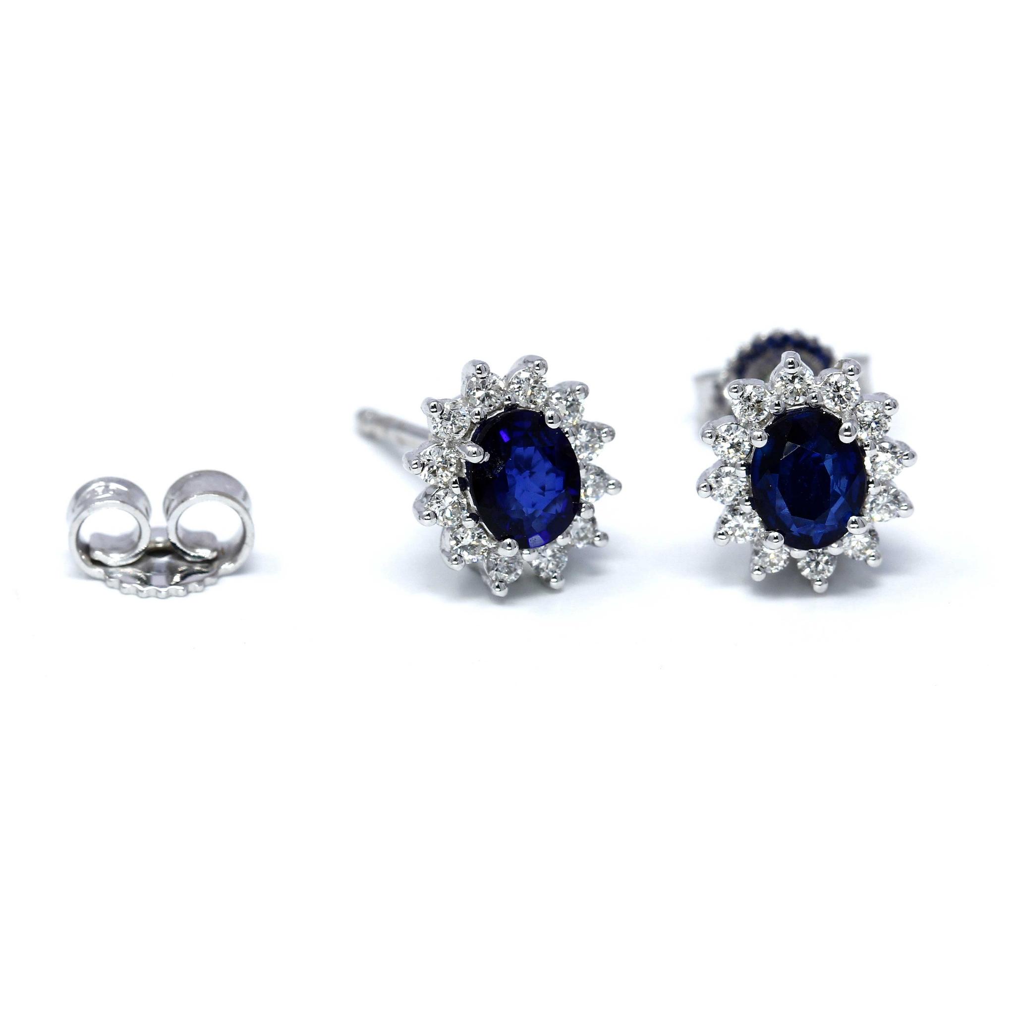 Orecchini con Zaffiro e Diamanti Linea Antea