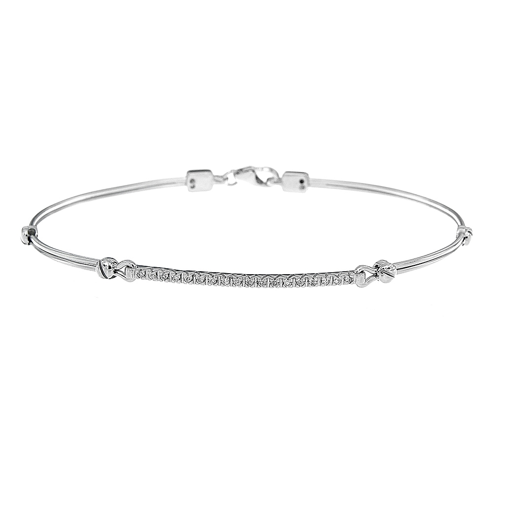 Bracciale Rigido con Diamanti CT. 0.10 Logo