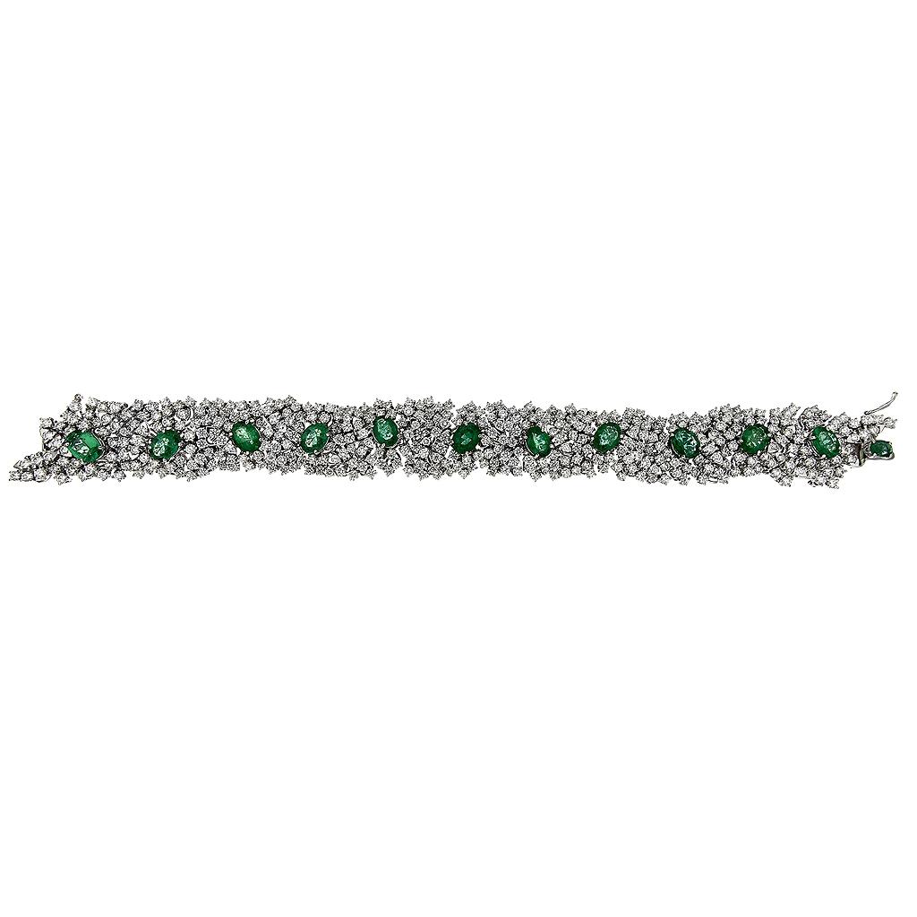 Bracciale Cestello di Smeraldi e Diamanti