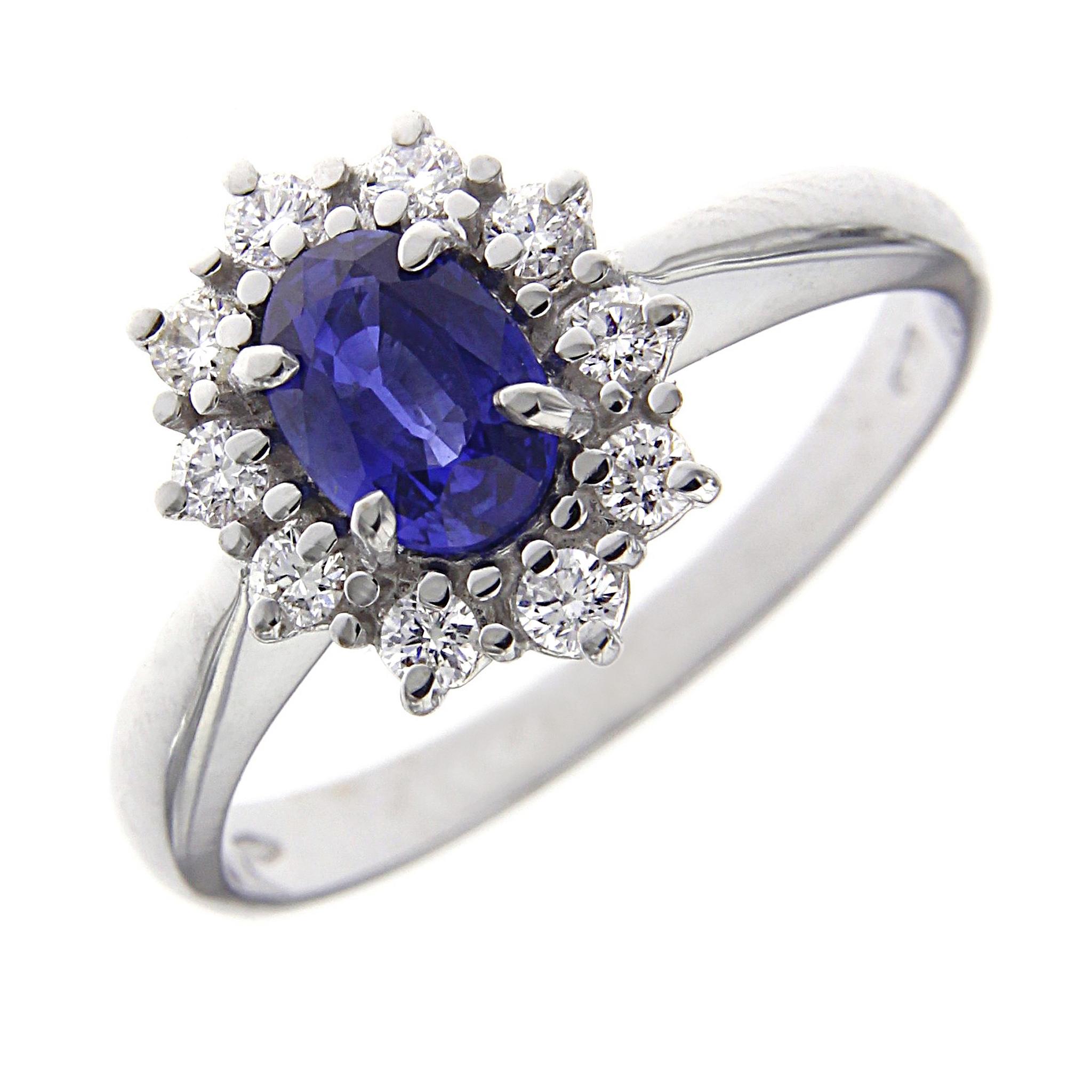 nuovo concetto b70b1 3aab3 Anello zaffiro e diamanti Linea Katia