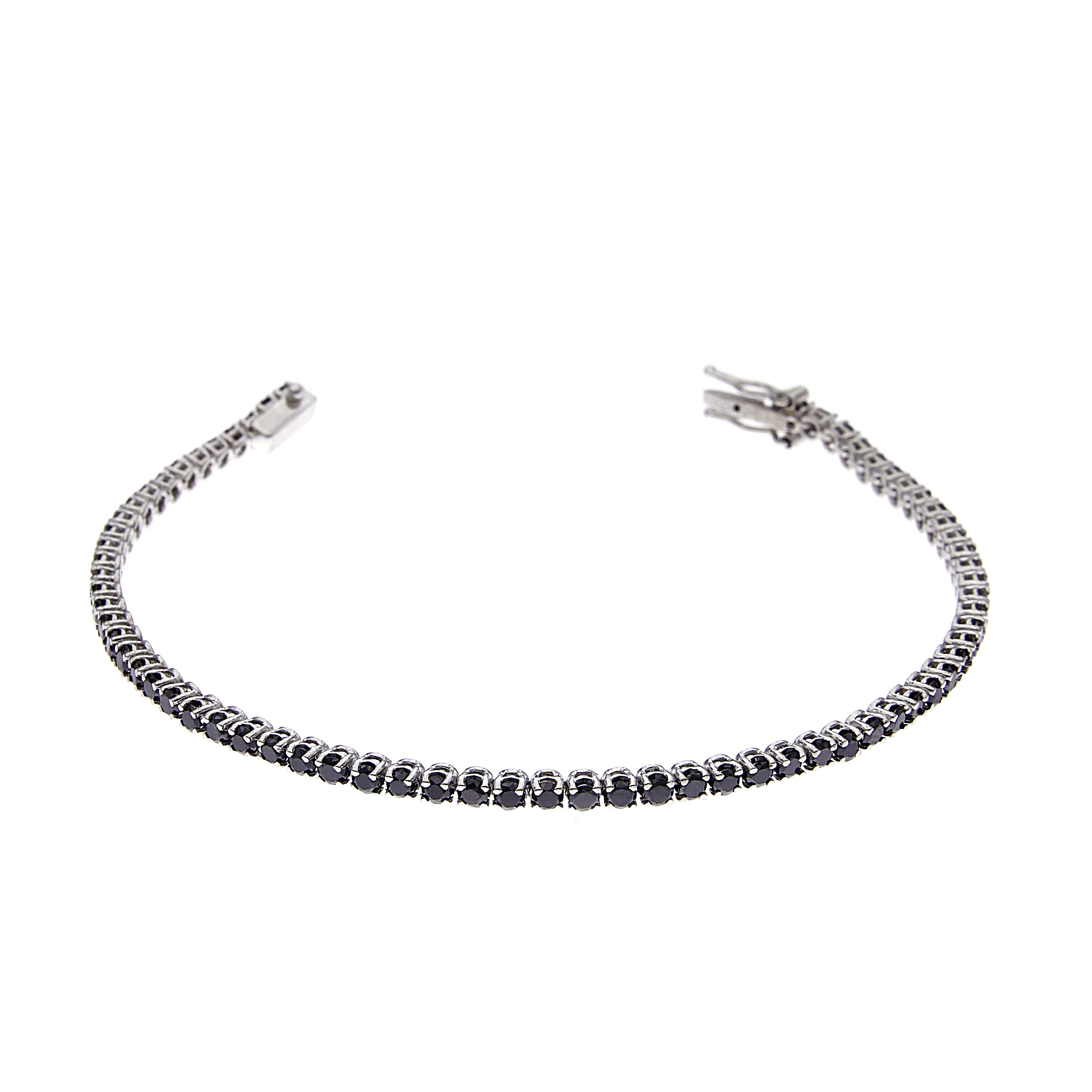 Bracciale Tennis  con Diamanti Neri CT 3.15