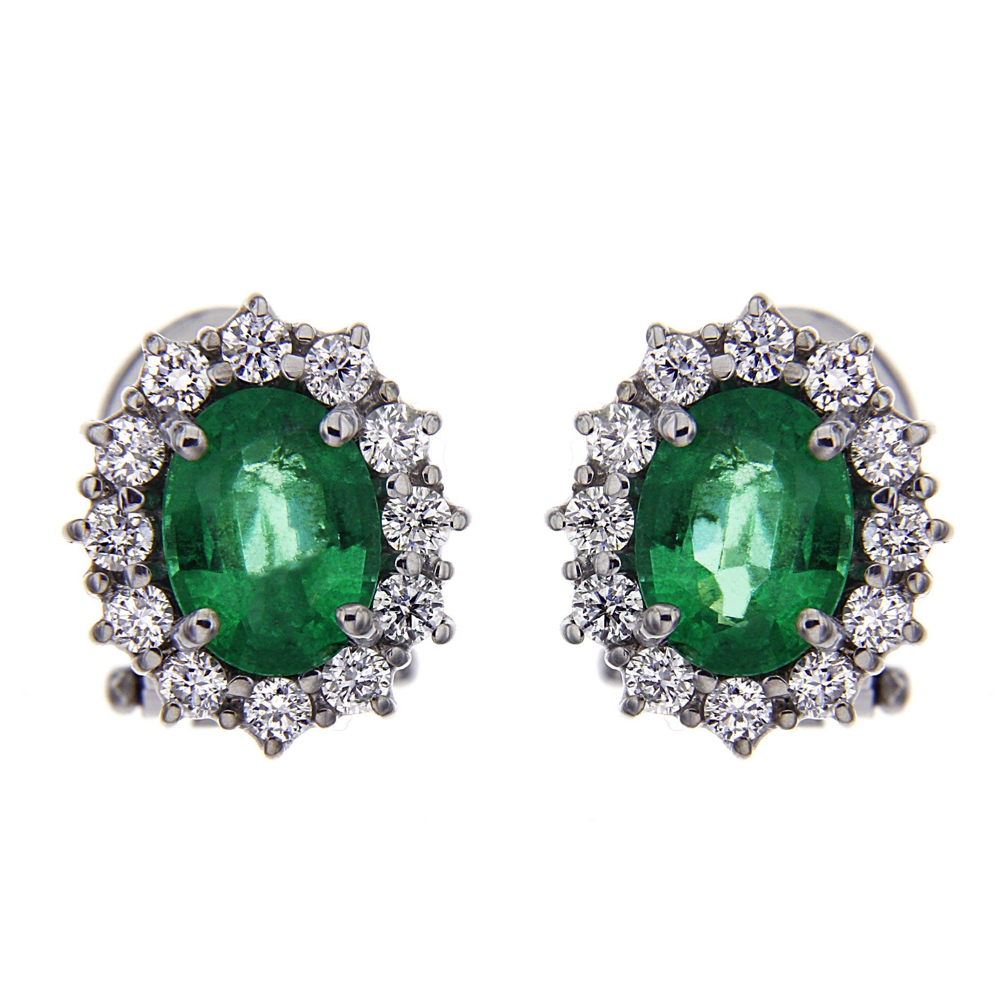 Orecchini con Smeraldi e Diamanti Linea Antea