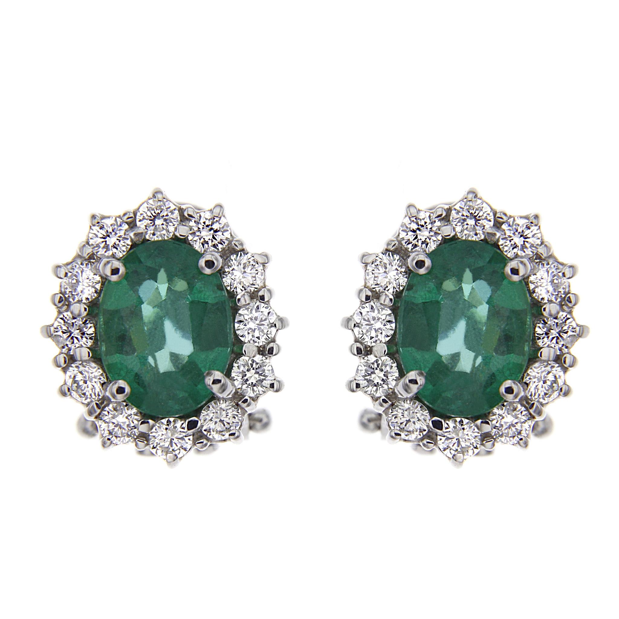 Orecchini con Diamanti e Smeraldo