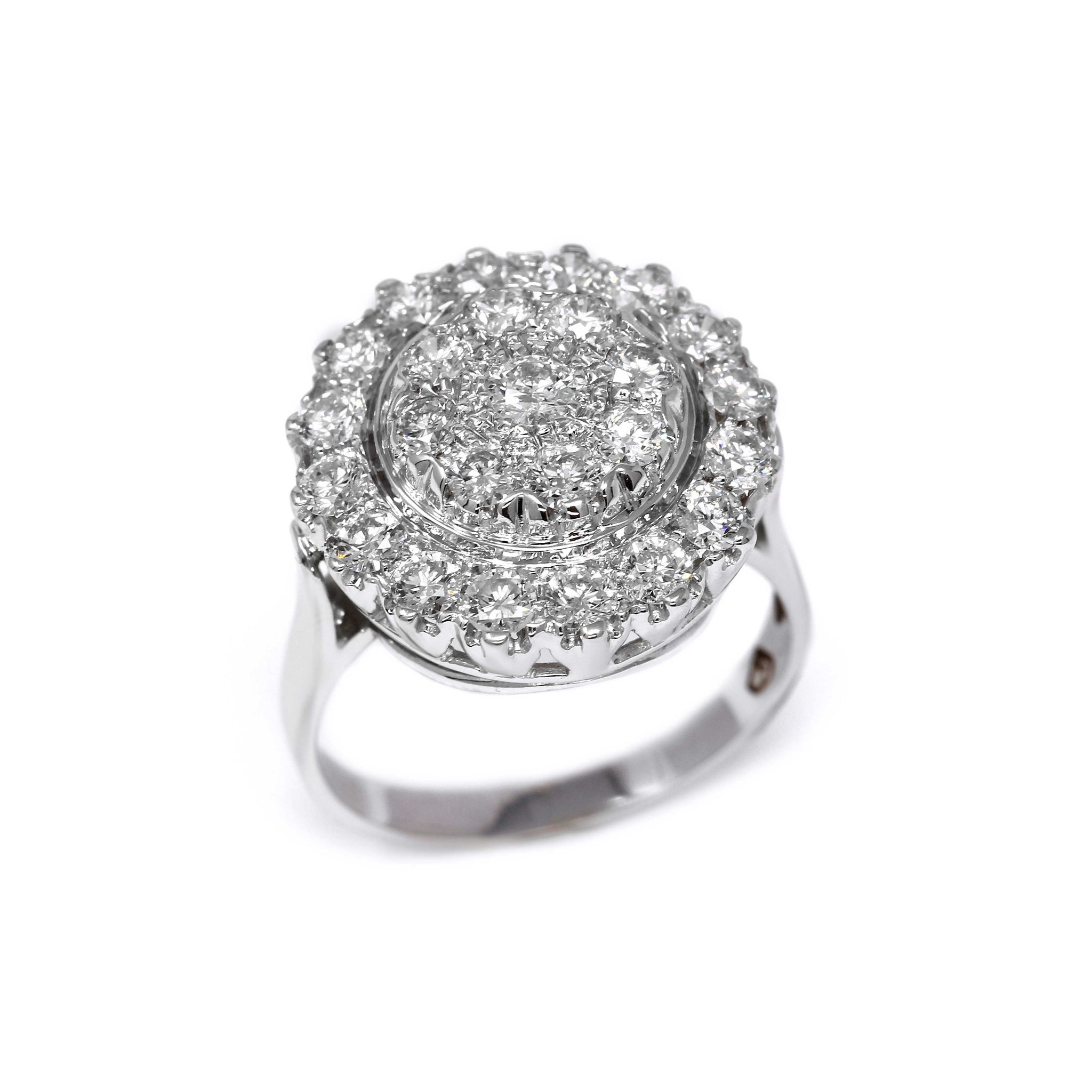 Anello Magia di Luce con 25 Diamanti CT 1.84