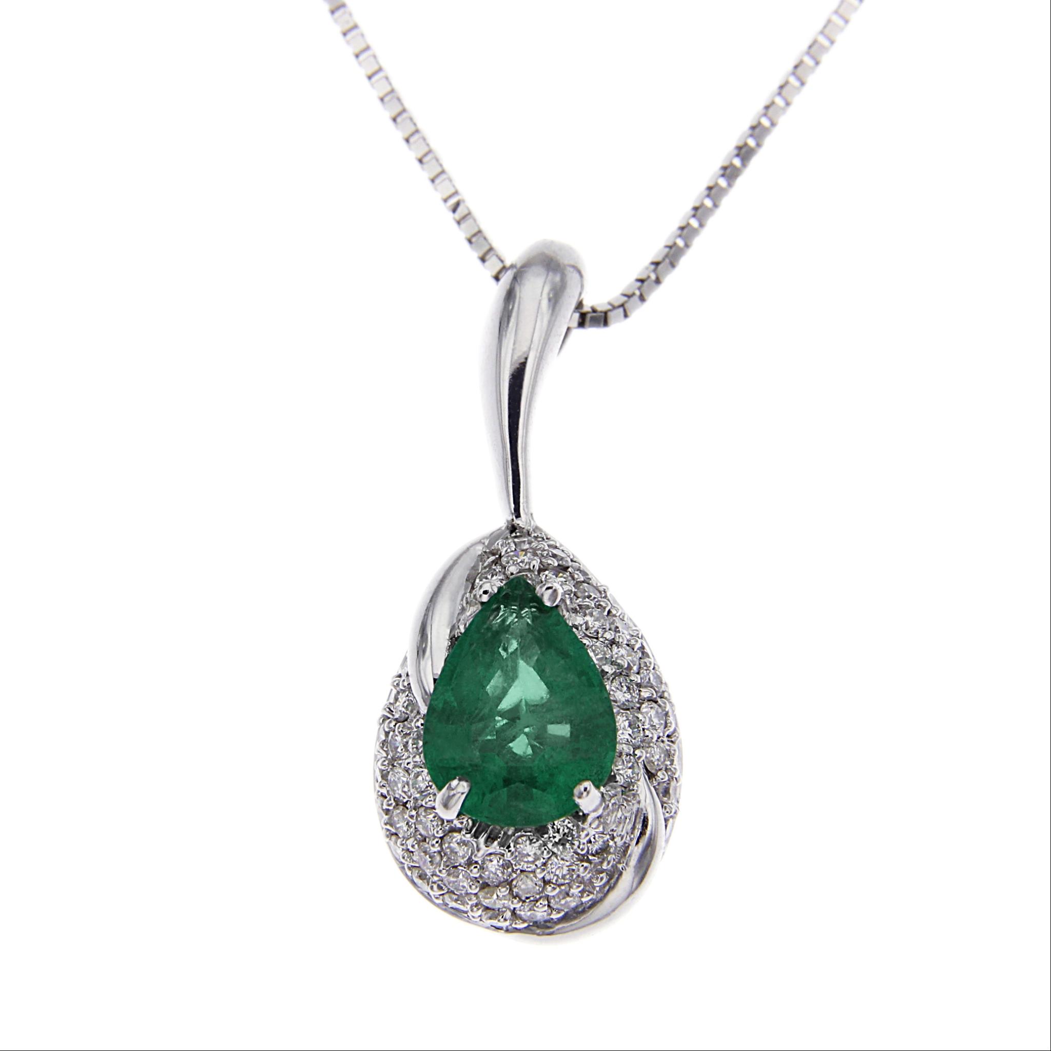Pendente goccia con diamanti e smeraldo italiana gioielli gioielleria online - Gemelli diversi alla goccia testo ...