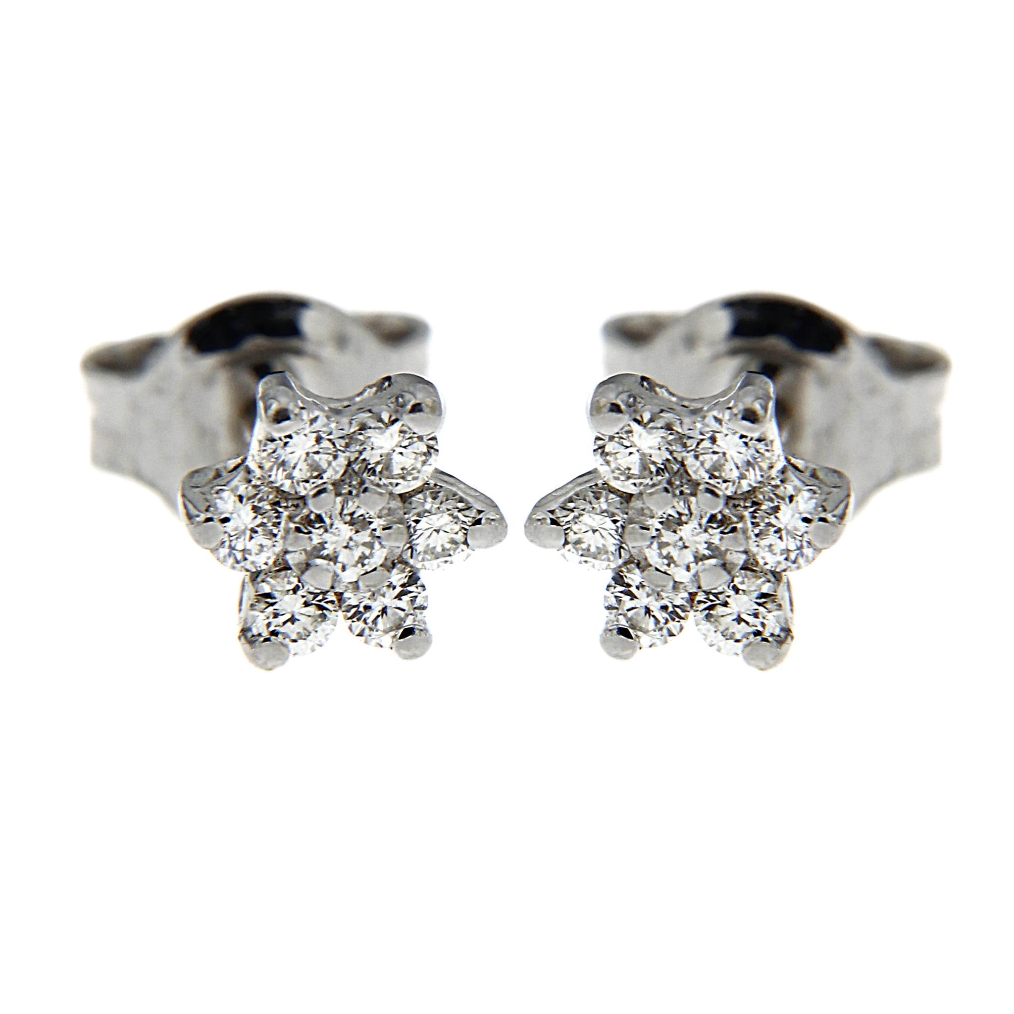 Orecchini Fiore con Diamanti CT 0.21