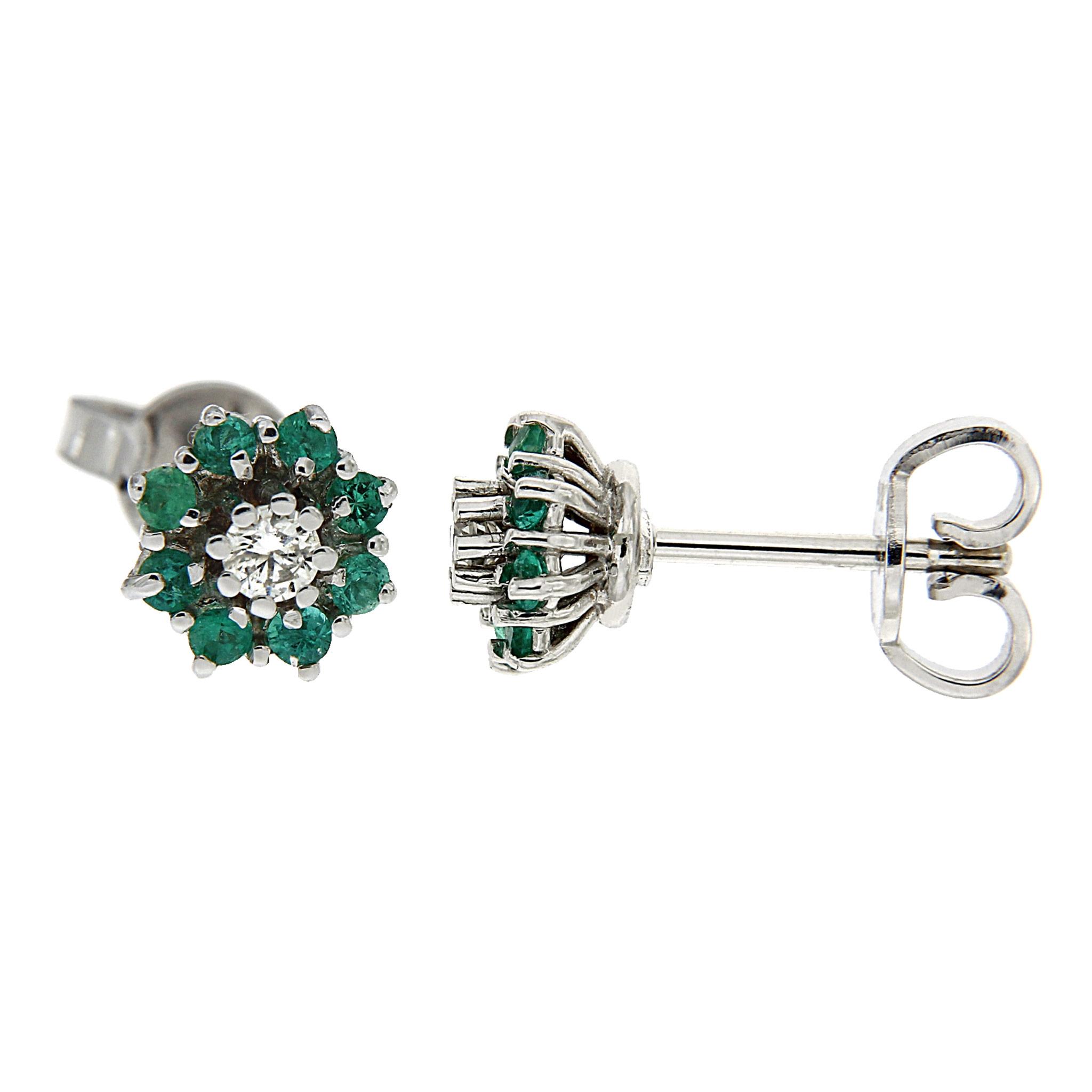 Orecchini con smeraldi e diamanti Linea Alice