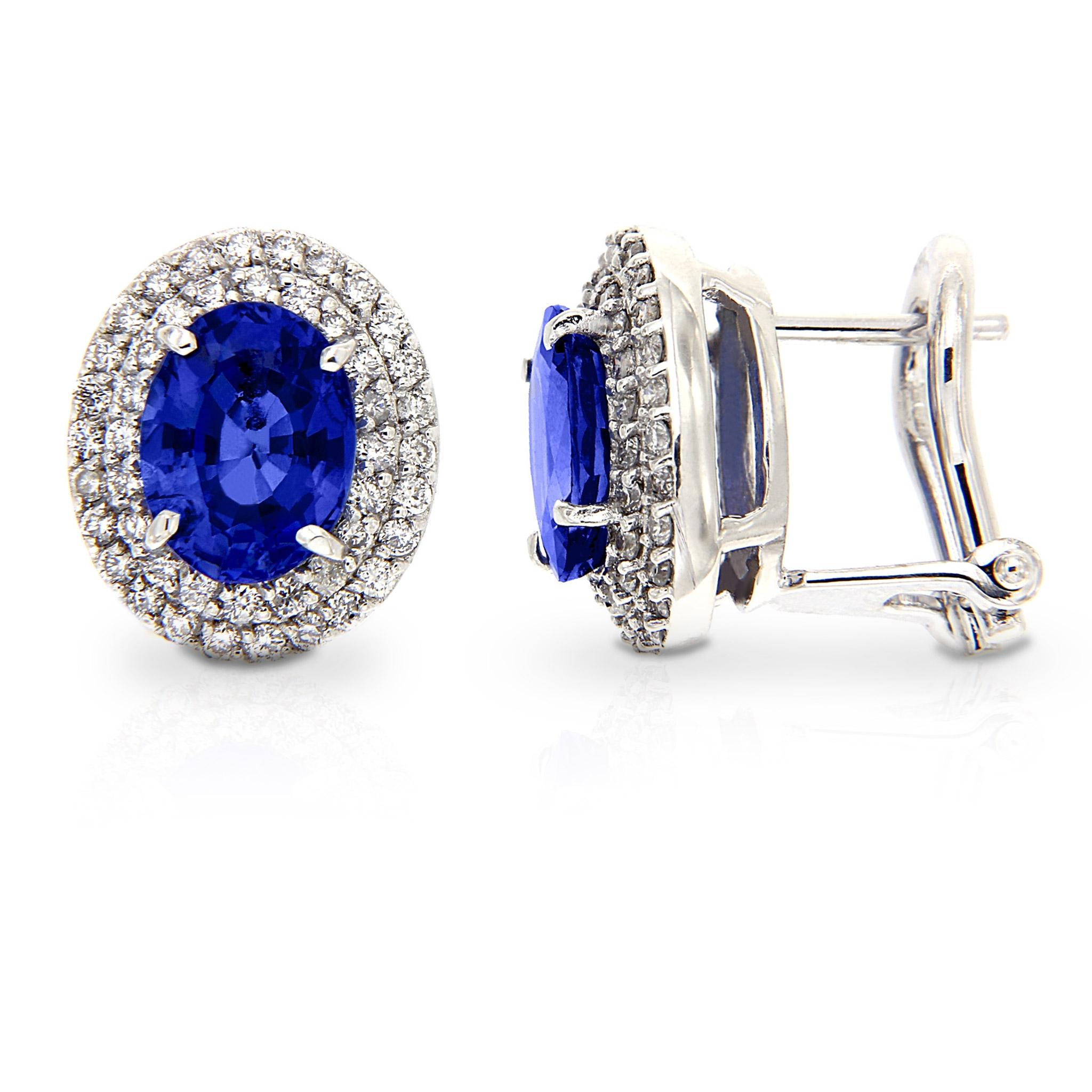 Orecchini con Zaffiro e Diamanti Linea Irma
