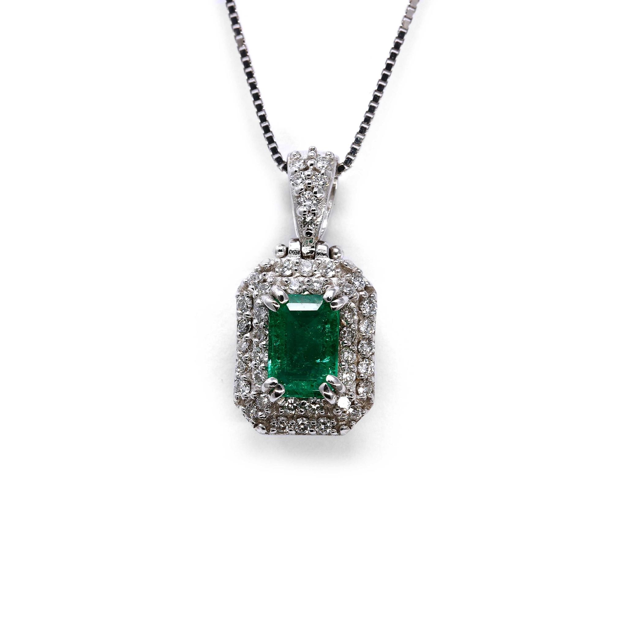 Pendente con Smeraldo e Diamanti